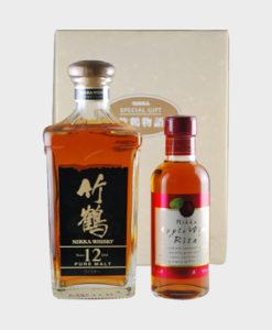 "Nikka Taketsuru Story Pure Malt 12 Year Old & Apple Wine ""Rita"" Gift Set"