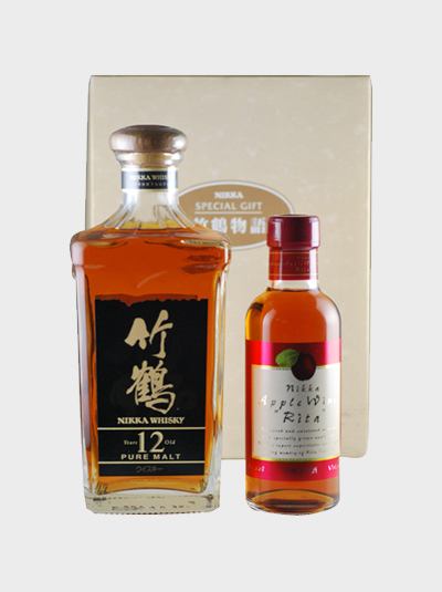 "Nikka Taketsuru Story Pure Malt 12 Year Old & Apple Wine ""Rita"" Gift Set"