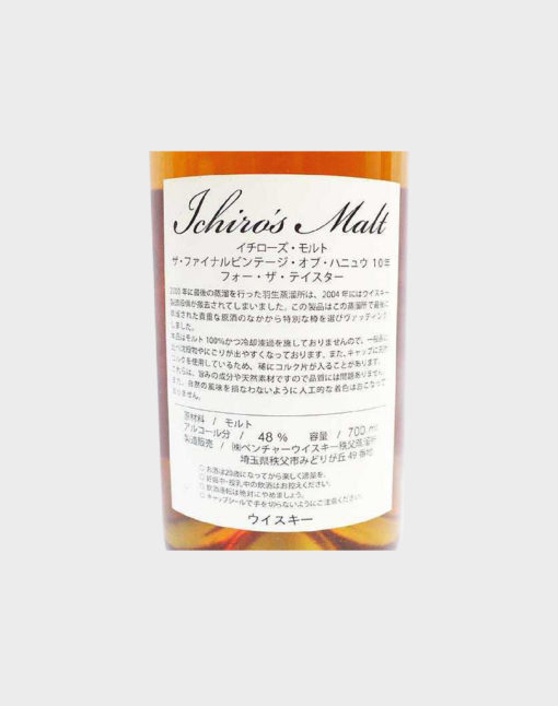 Ichiro's Malt The Final Vintage of Hanyu 10 Year Old for the Taster Single Malt Whisky D