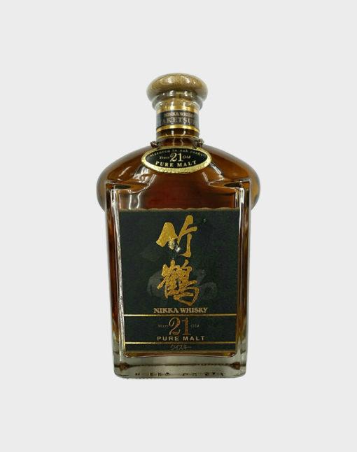 Nikka whisky taketsuru 21 years old pure malt old Rare bottle A