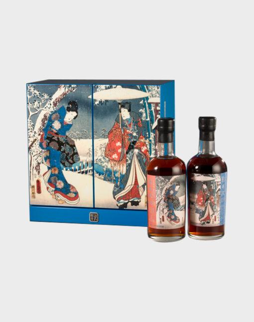 """Karuizawa 35 Year Old """"Snow Scenes"""" 2 Bottle Set"""