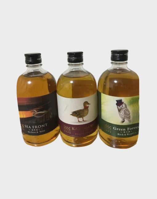 Sea Front Karugamo Green Forest whisky Set