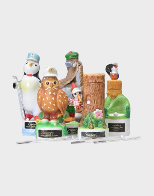 Suntory Open Golf Memorial Bottle Whisky – Pottery Bird Set