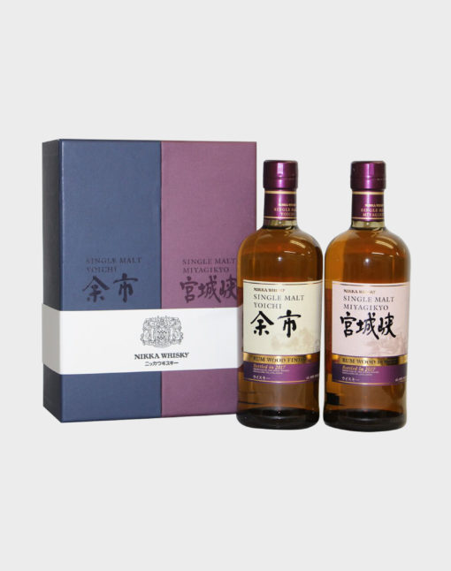 Yoichi and Miyagikyo Rum Wood Finish Set