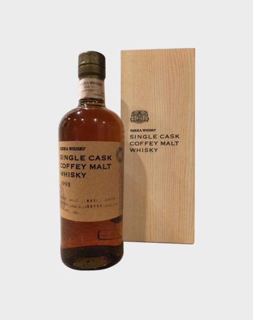 Nikka Single Cask Coffey Malt Whisky 1998 with Wooden Box