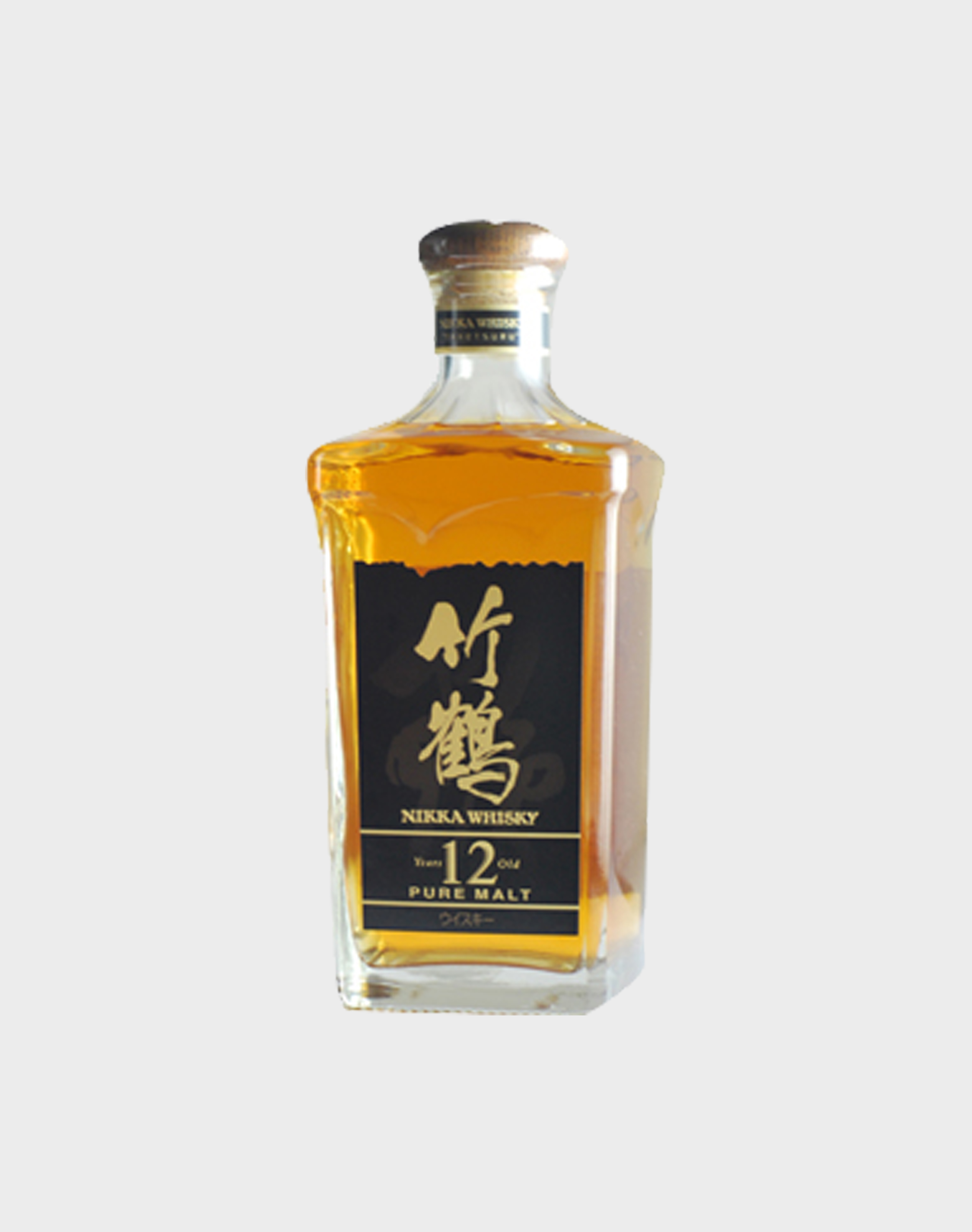 Nikka Whisky Pure Malt 12 Year Old Square Bottle (No Box)
