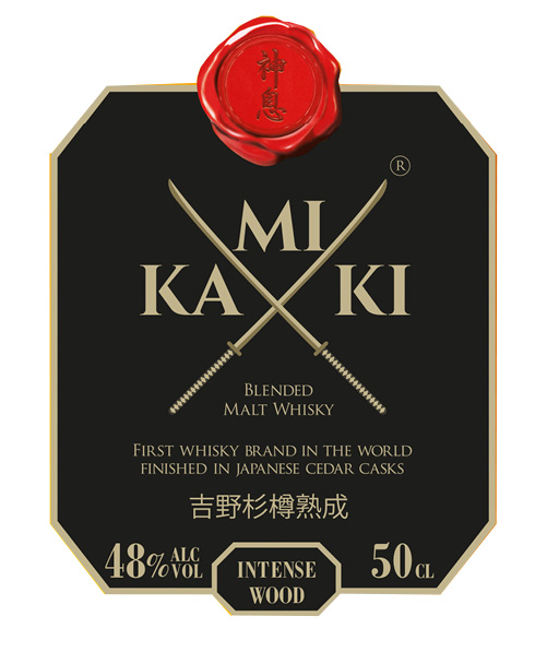 Kamiki Intense Japanese Whisky Label