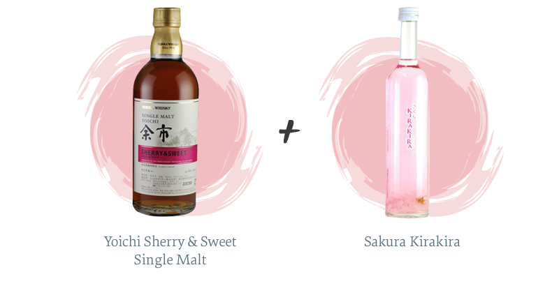 Yoichi Sherry & Sweet Single Malt + Sakura Kirakira